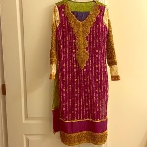 Pakistani Indian dress outfit 3-piece